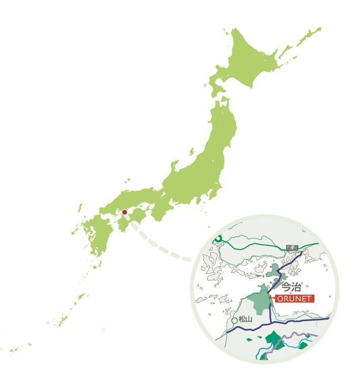 日本地図とオルネット